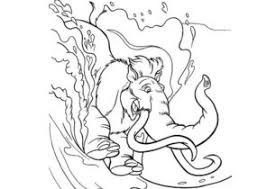 Manny, sid, dodo, diego, zeke ! Ice Age Coloring Pages Coloring4free Com