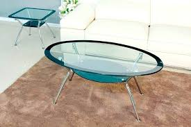glass top oval coffee table oval glass top coffee table maison glass top oval coffee table