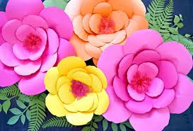 Paper Flower Printables Hibiscus Paper Flower Templates Giant Paper Flower Templates Etsy