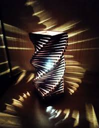 Shadow Lamps Spiral Lamp Woods Craft And Lights