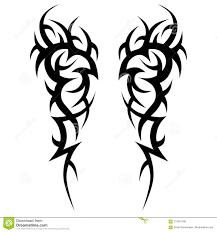 эскиз дизайна вектора татуировки племенной иллюстрация вектора