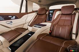 Maybach gls 600 models only have two rows and seat four or five people. Mercedes Benz Presents The Maybach Version Of Its Gls Suv Car News Auto123