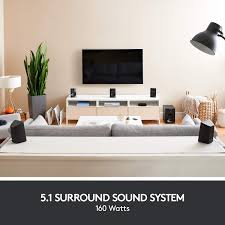 Surround Sound Living Room Design Logitech Z607 5 1 Surround Sound Speakers Bluetooth Rca
