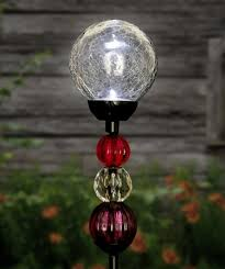 solar le ball w beads stake clear to enlarge