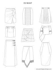 Fashion Design Skirt Fashion Flat Sketches For Skirts Fashion Design Drawings