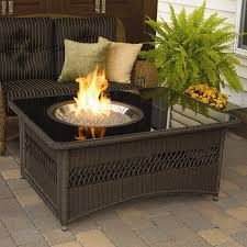 firepit coffee tables bayou breeze laforce table with fire pit