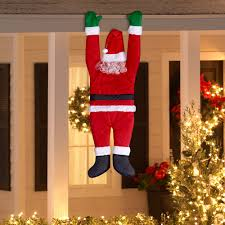 office holiday decor. Holiday Time Christmas Decor Hanging Santa By Gemmy Industries - Walmart.com Office C