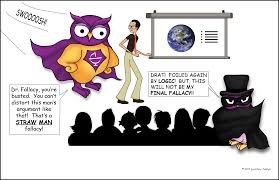 straw man fallacy excelsior college owl straw man logical fallacy comic the owl superhero