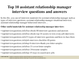 top-10-assistant-relationship-manager -interview-questions-and-answers-1-638.jpg?cb=1426987291