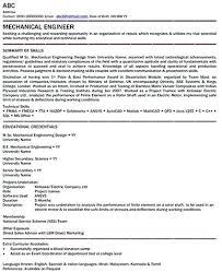 Mechanical Engineer Resume Sample X Resume Sample Mechanical