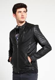 jjvrichard leather jacket black