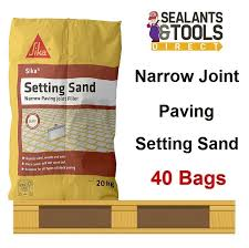 Sika Setting Sand Block Paving Narrow Joint Filler 40 Bag