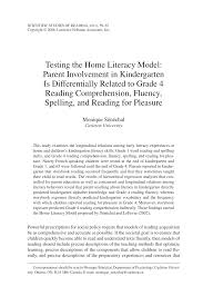 Child and home predictors of early numeracy skills in kindergarten ...