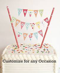 1 Mini Cake Banner Cake Bunting Diy Kit Happy Birthday