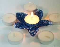 DIY Flower Tea Light Candle Holder