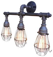 houzz bathroom vanity lighting. Houzz Vanity Lights Nelson 3 Light Fixture With Wire Cages Bathroom Lighting Ideas .