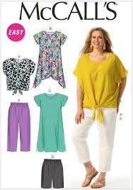 Mccalls Patterns Best Womens Top Tunic Dress Shorts And Trousers McCalls Pattern 48