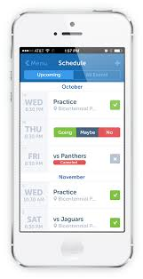 Sports Team Schedule Maker This App Is Made By Team Snap And Seems Like It Would Be A