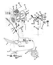 C bell hausfeld portable oil free air pressor parts wl604001 wl604001aj