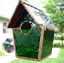 stain glass bird feeders green stained birdhouse feeder