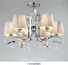 mini chandeliers lamp shades for multiple chandelier fabric shade glass crystal 9 clip on