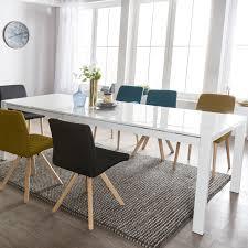 Esszimmertisch Glory 140 X 76 X 90 Cm Ausziehbar Hochglanz Weiß Metall Holz Küchentisch Für 6 8 Personen Design Esstisch Rechteckig Um 2 X 45 Cm