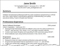 Examples Of Chronological Resume – Resume Web