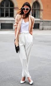 Stylish white pants ideas for ladies White Outfits 25 Stylish Work Outfit Ideas Style Motivation 25 Stylish Work Outfit Ideas Style Motivation