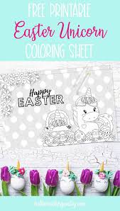 Since we love kids and babies so much we will provide you with free and printable coloring pages! Free Unicorn Easter Coloring Sheet Hello Creative Family