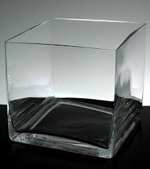 glass square s 6in clear vase is a simple yet elegant container for flowers or