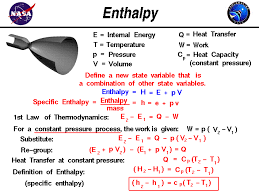 define a new state variable called enthalpy which equals the internal energy plus the pressure times