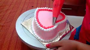 Anniversary Cake Easy Cake Recipe Heart Shaped Sponge Cake Youtube