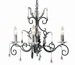 amarilli 3 light black silver chandelier elstead lighting