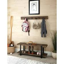 coat rack with seat bench hooks best entryway ideas metal and reclaimed  wood storage hook that