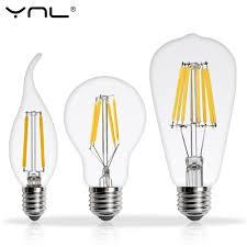 Us 129 30 Offreal Watt Antique Led Edison Bulb E27 2w 4w 6w 8w Vintage Led Bulb E14 Lamp 220v Retro Led Filament Light Candle Light Lamp In Led