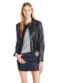 a x armani exchange women s motto leather jacket