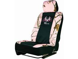 pink realtree bone collector universal camo seat cover low back seat cover