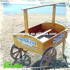 wooden garden cart wagon wheels carts for wheeled flower plant display parts decorative garden cart
