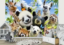 Selfie Behang Jungle Dieren Muurdeco4kids