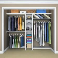 elegant home depot closets intended for closetmaid impressions 16 in w white narrow closet kit 14855 the