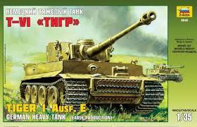 """<b>Сборная модель ЗВЕЗДА</b>/<b>ZVEZDA</b>, <b>Немецкий</b> танк Тигр"""" 1/35 ..."""
