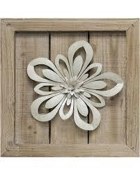 cut out flower metal wall art