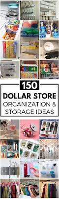 Organize for less with these creative dollar store organization and storage  ideas. There are ideas for every room in your house (kitchen, bathroom,  laundry, ...