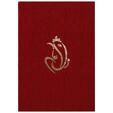 hindu wedding card in red satin with ganesha symbol wedding Wedding Invitation Ganesh Pictures hindu wedding card in red satin with ganesha symbol Ganesh Invitation Blank