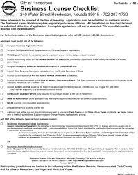 Contractor Checklist City Of Henderson Contractor Business License Checklist 240