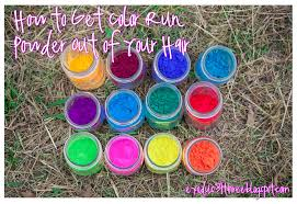 how to get color run powder out of your hair