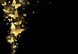 Gold-color Butterfly Wallpaper ...