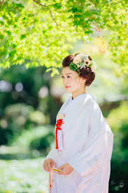白無垢新日本髪でナチュラルな雰囲気に 京都タガヤ和婚礼