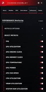 using radeon overlay to adjust gaming
