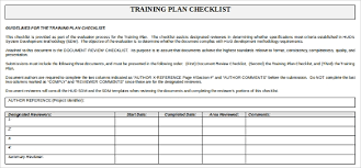 Training Checklist Template 21 Free Word Excel Pdf
